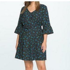 Eloquii Draper James floral polka dot print dress